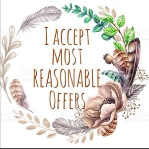 REASONABLE OFFERS ACCEPTED !!!!